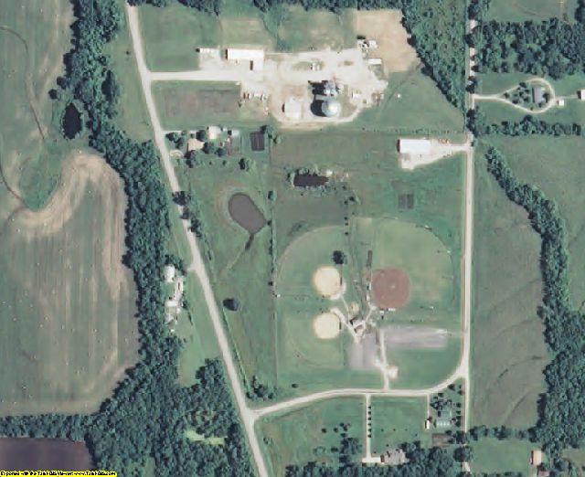 Linn County, KS aerial photography detail