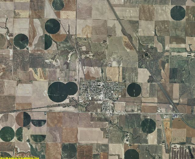 Logan County, Kansas aerial photography