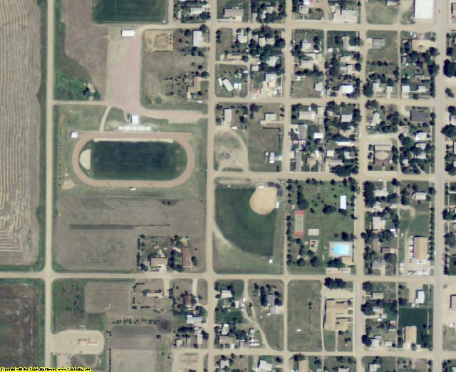 Lyman County, SD aerial photography detail