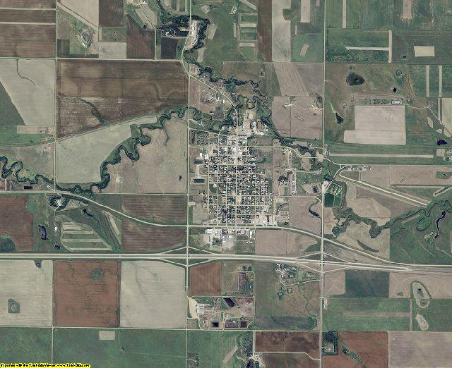 Lyman County, South Dakota aerial photography