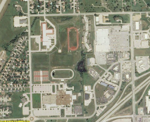 Lyon County, KS aerial photography detail