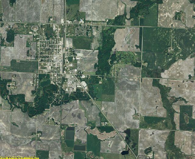 Mahnomen County, Minnesota aerial photography