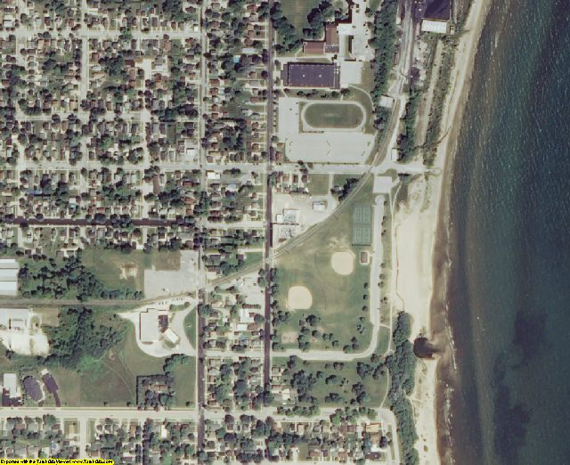 Manitowoc County, WI aerial photography detail