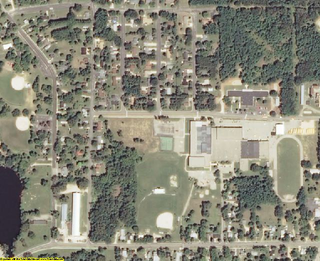 Marquette County, WI aerial photography detail