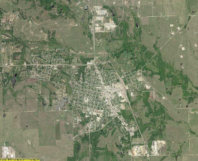 Marshall County, Oklahoma aerial photography