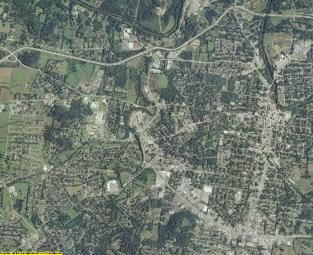 Maury County, Tennessee aerial photography