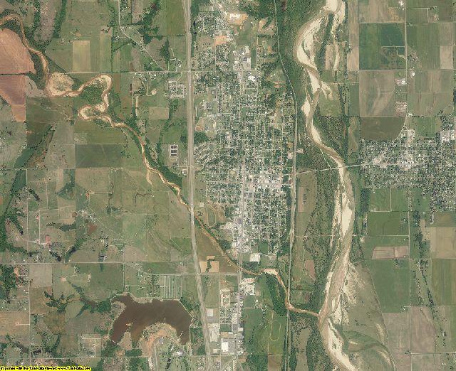 McClain County, Oklahoma aerial photography