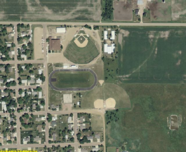 McCook County, SD aerial photography detail