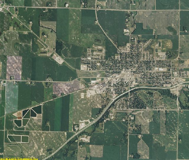McLeod County, Minnesota aerial photography