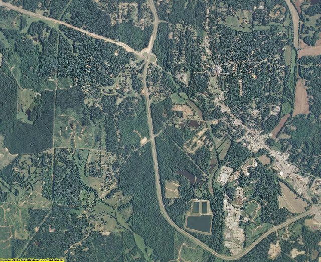 McNairy County, Tennessee aerial photography