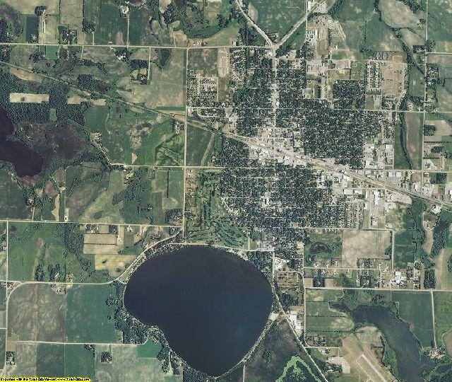 Meeker County, Minnesota aerial photography