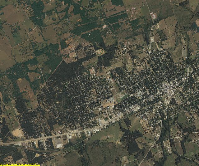 Milam County, Texas aerial photography