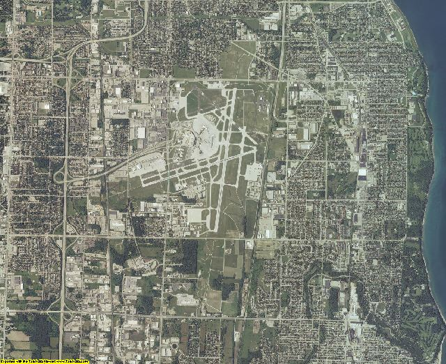 Milwaukee County, Wisconsin aerial photography