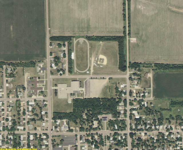 Miner County, SD aerial photography detail