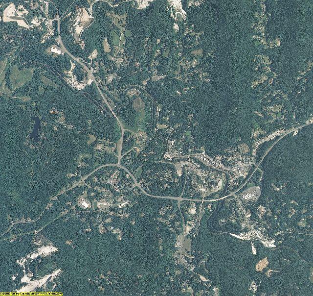 Mitchell County, North Carolina aerial photography