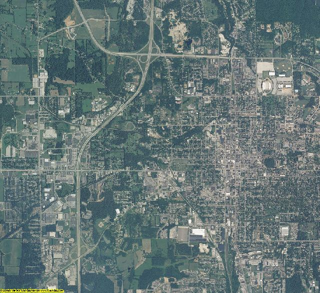 Monroe County, Indiana aerial photography