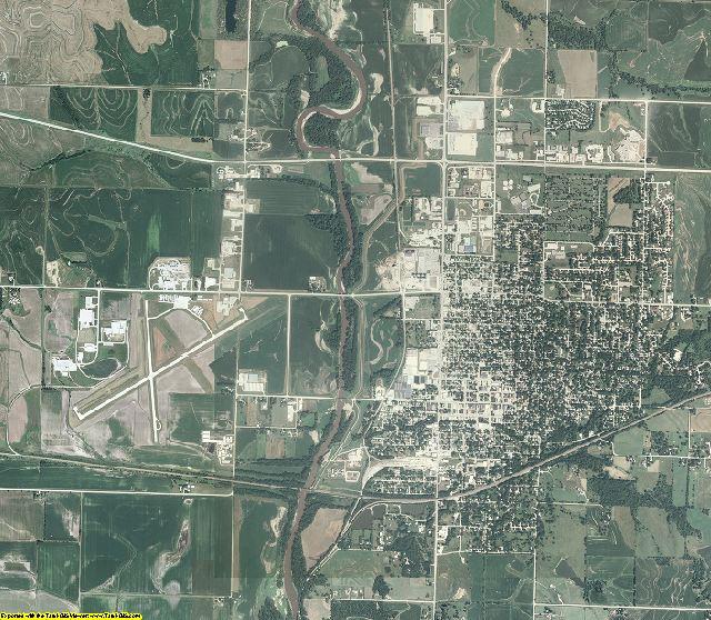 Montgomery County, Iowa aerial photography