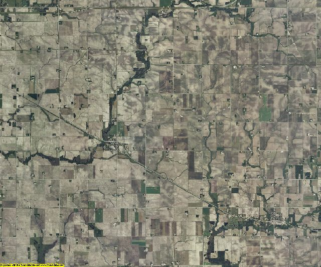 Mower County, Minnesota aerial photography