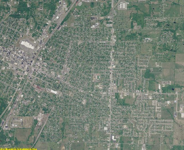 Muskogee County, Oklahoma aerial photography