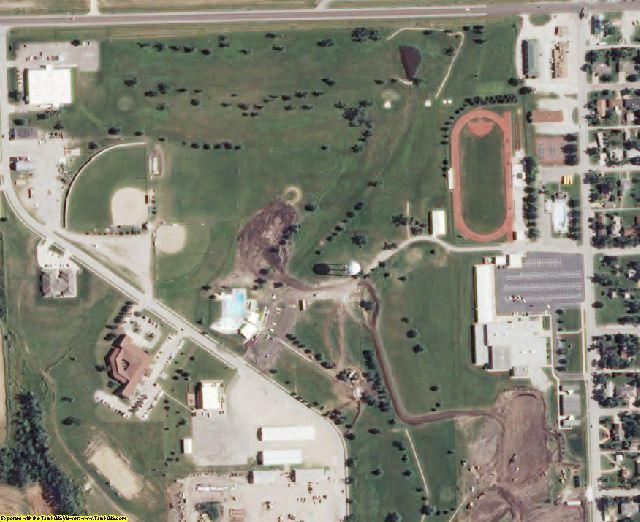 Nemaha County, KS aerial photography detail