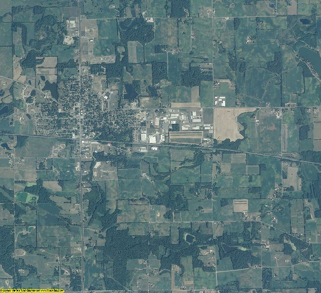Noble County, Indiana aerial photography