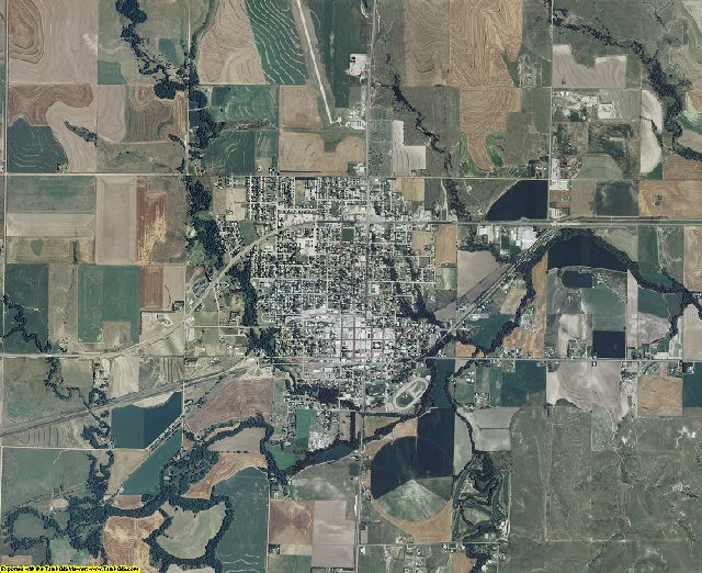 Norton County, Kansas aerial photography