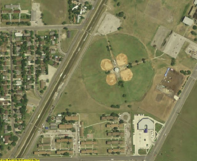 Nueces County, TX aerial photography detail