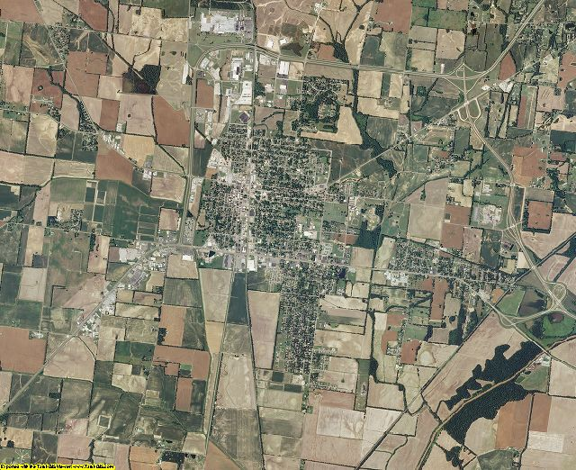 Obion County, Tennessee aerial photography