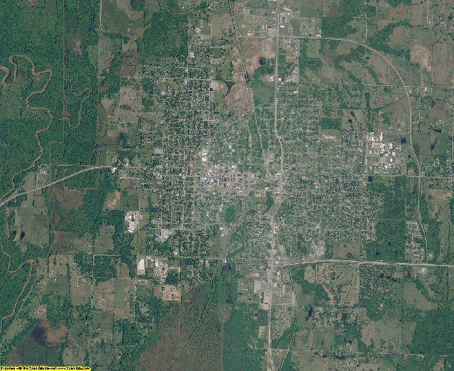 Okmulgee County, Oklahoma aerial photography