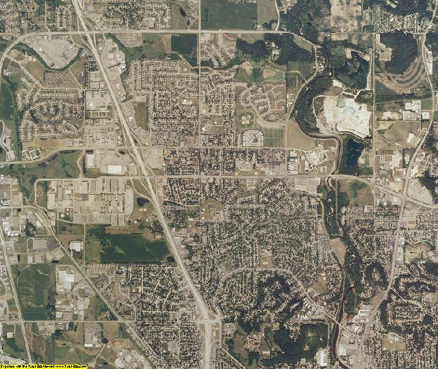 Olmsted County, Minnesota aerial photography