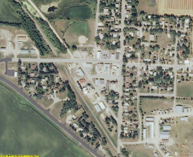 Otter Tail County, MN aerial photography detail