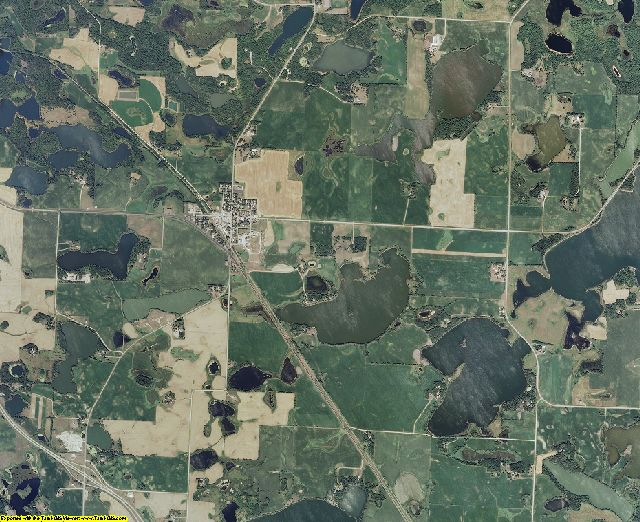Otter Tail County, Minnesota aerial photography