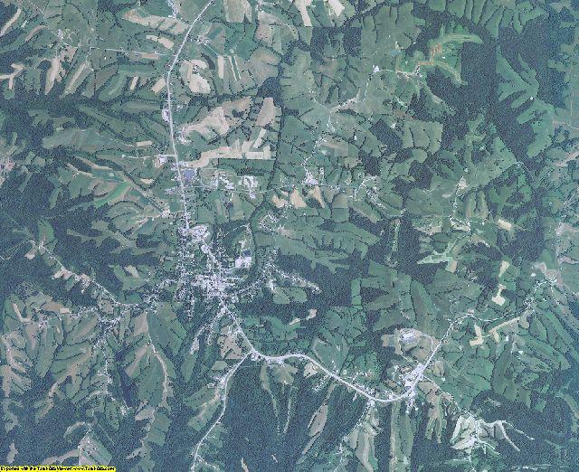 Owen County, Kentucky aerial photography