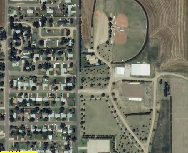 Pawnee County, KS aerial photography detail