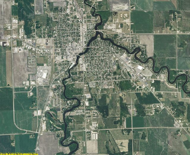 Pennington County, Minnesota aerial photography
