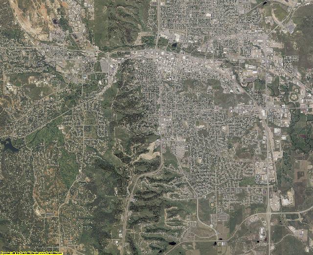 Pennington County, South Dakota aerial photography