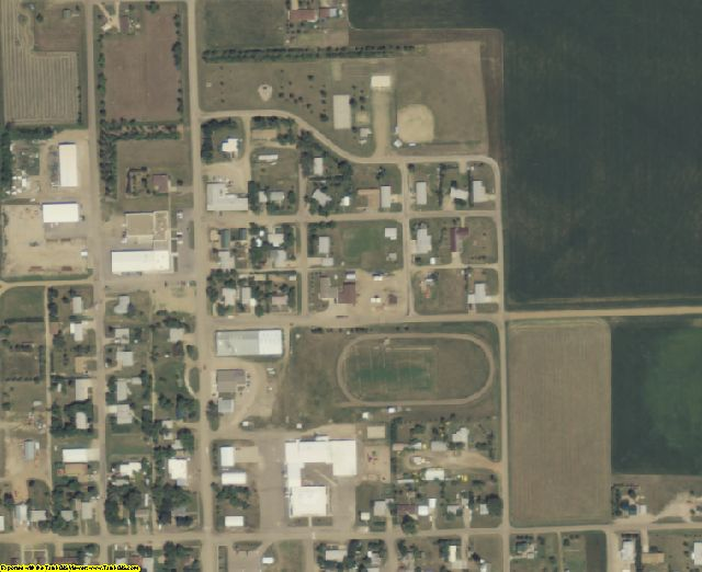 Perkins County, SD aerial photography detail