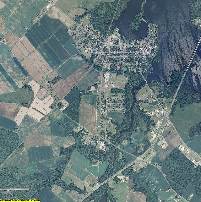 Perquimans County, North Carolina aerial photography
