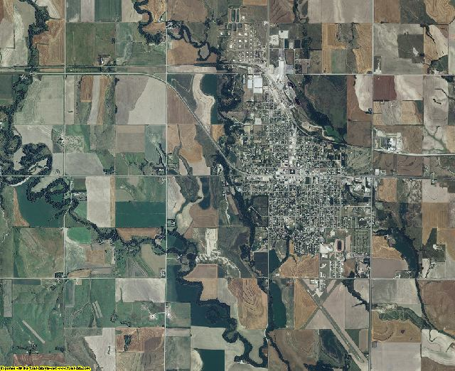Phillips County, Kansas aerial photography