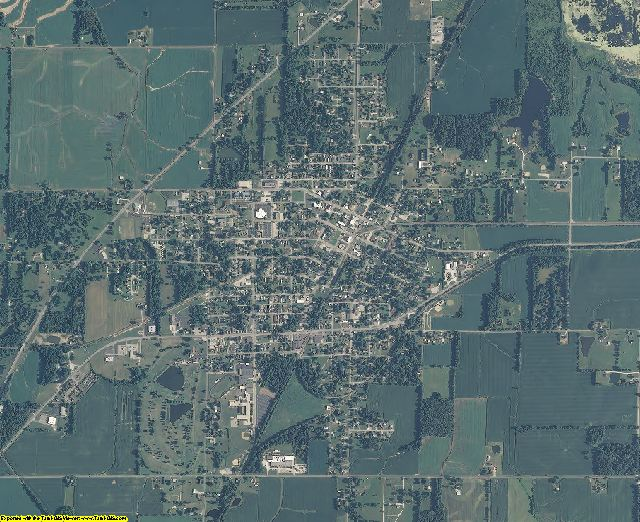 Pike County, Indiana aerial photography