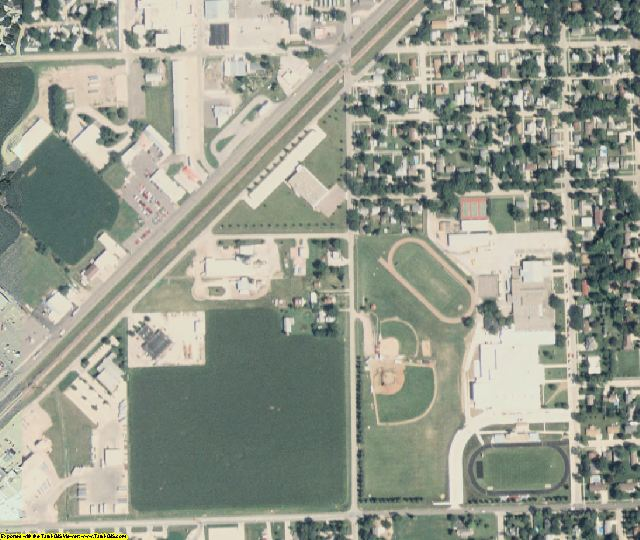 Plymouth County, IA aerial photography detail