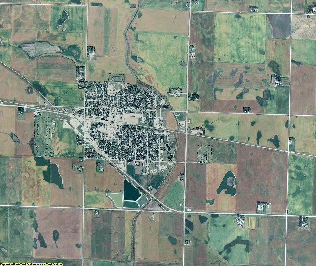 Pocahontas County, Iowa aerial photography