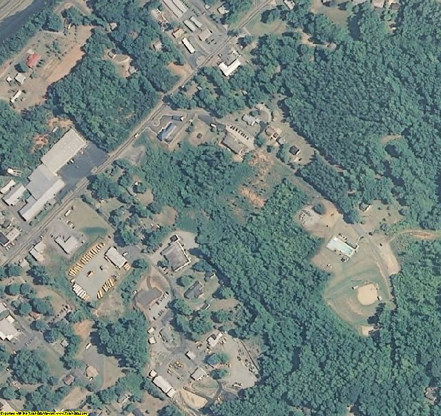 Polk County, NC aerial photography detail