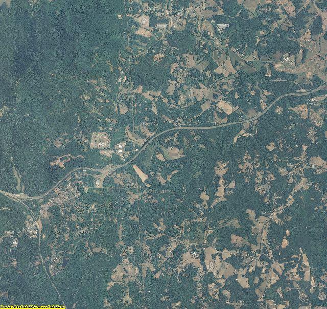 Polk County, North Carolina aerial photography