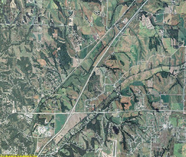 Pottawattamie County, Iowa aerial photography