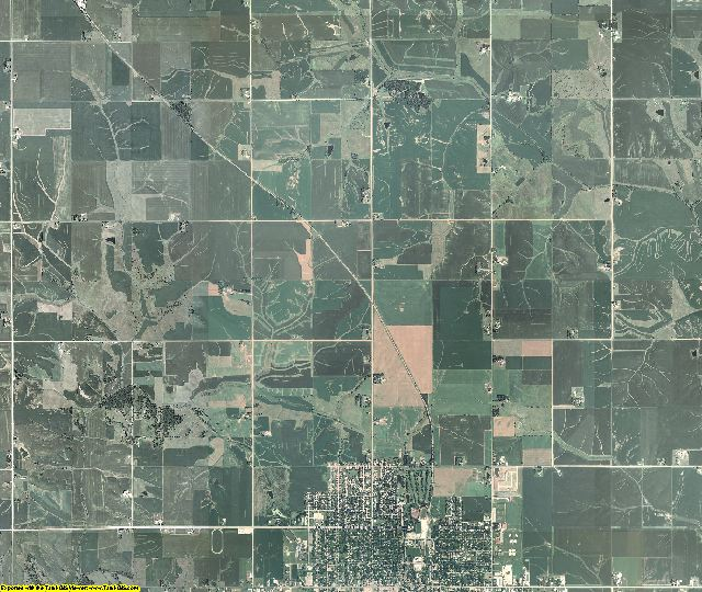 Poweshiek County, Iowa aerial photography