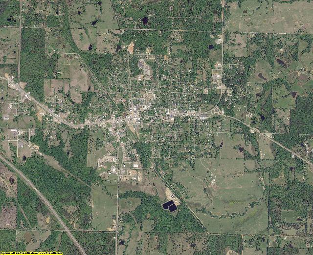 Pushmataha County, Oklahoma aerial photography