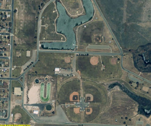 Randall County, TX aerial photography detail