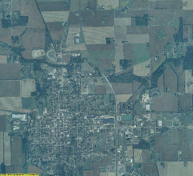 Randolph County, Indiana aerial photography