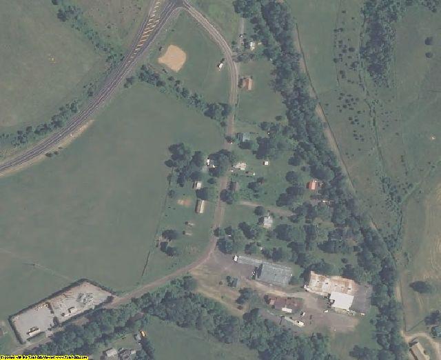 Rappahannock County, VA aerial photography detail